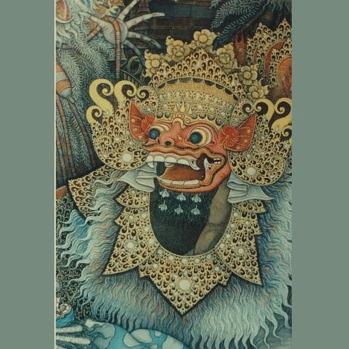 Maschera di Barong –  Bali - collezione Cozzi – Milano Acquistata non molto tempo fa a Bali e qui presentata per far notare come ancora oggi molti artisti-artigiani di Bali lavorino con maestria, come mantengano la capacità di  curare i particolari, come siano sempre in grado di fare un bellissimo oggetto anche se destinato alla folla innumerevole di turisti. Barong, simbolo del Bene e della Fertilità  sempre in lotta con  Rangda, la regina delle streghe, simbolo del Male.